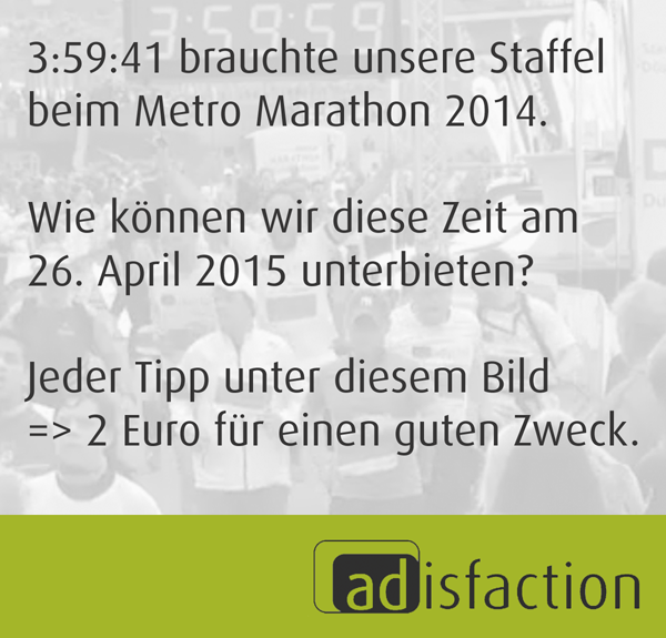 adisfaction Metro Marathon 2015