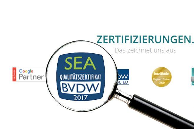 SEA Zertifikat 2017 vom BVDW