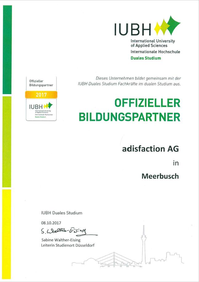 Zertifikat_Bildungspartner IUBH