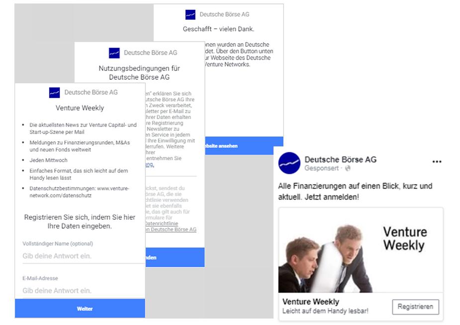 Case Study Venture Network Screenshots